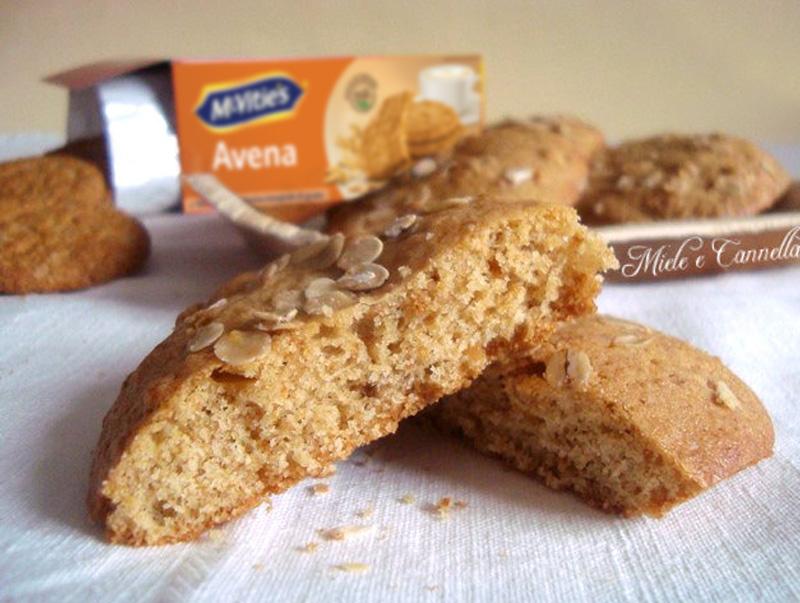 Cookies con biscotti all'avena di Meri