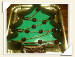 panna cotta christmas tree