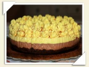 cheesecake arancia e cioccolato fondente