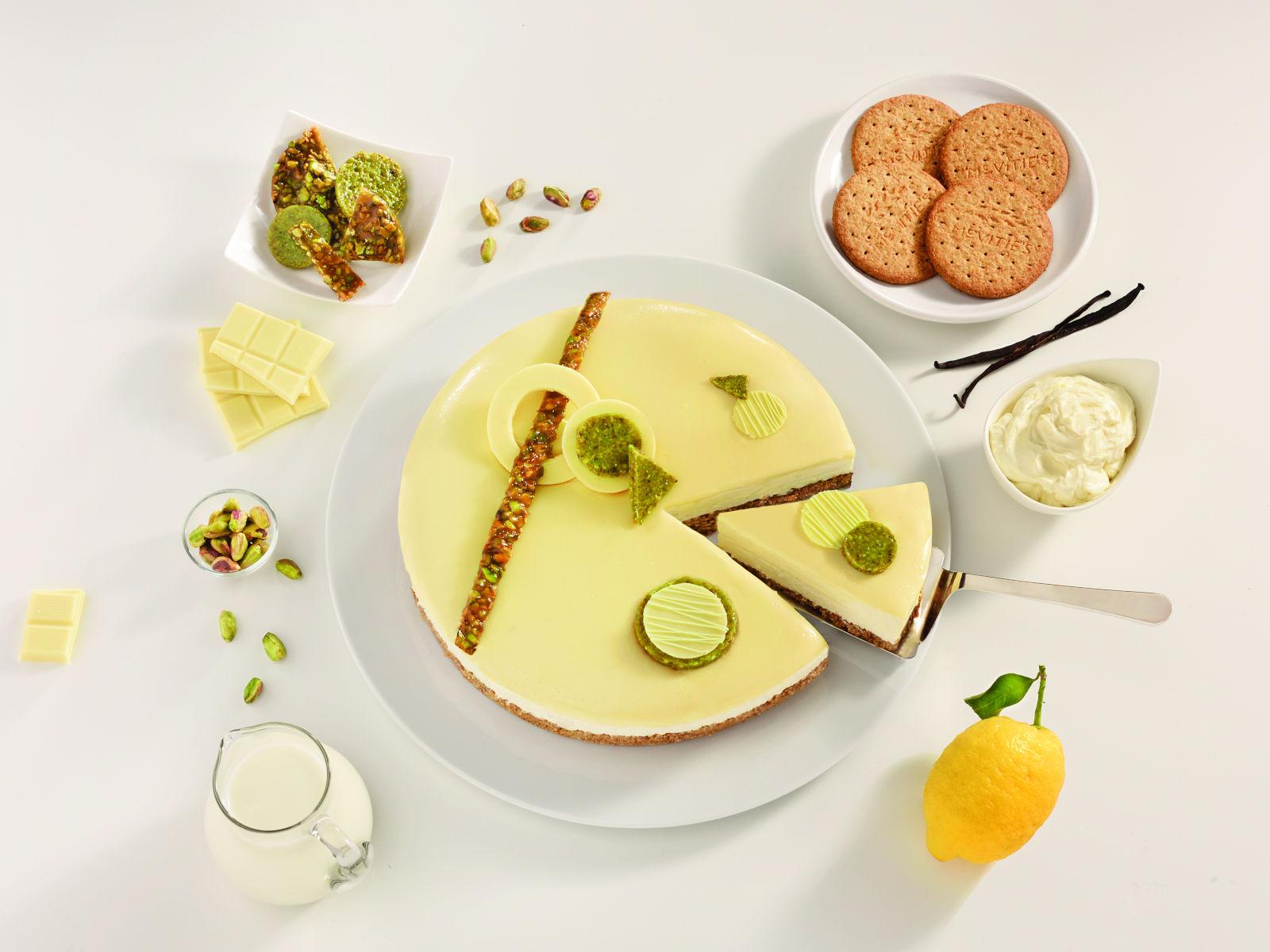 Cheesecake cioccolato bianco e pistacchio