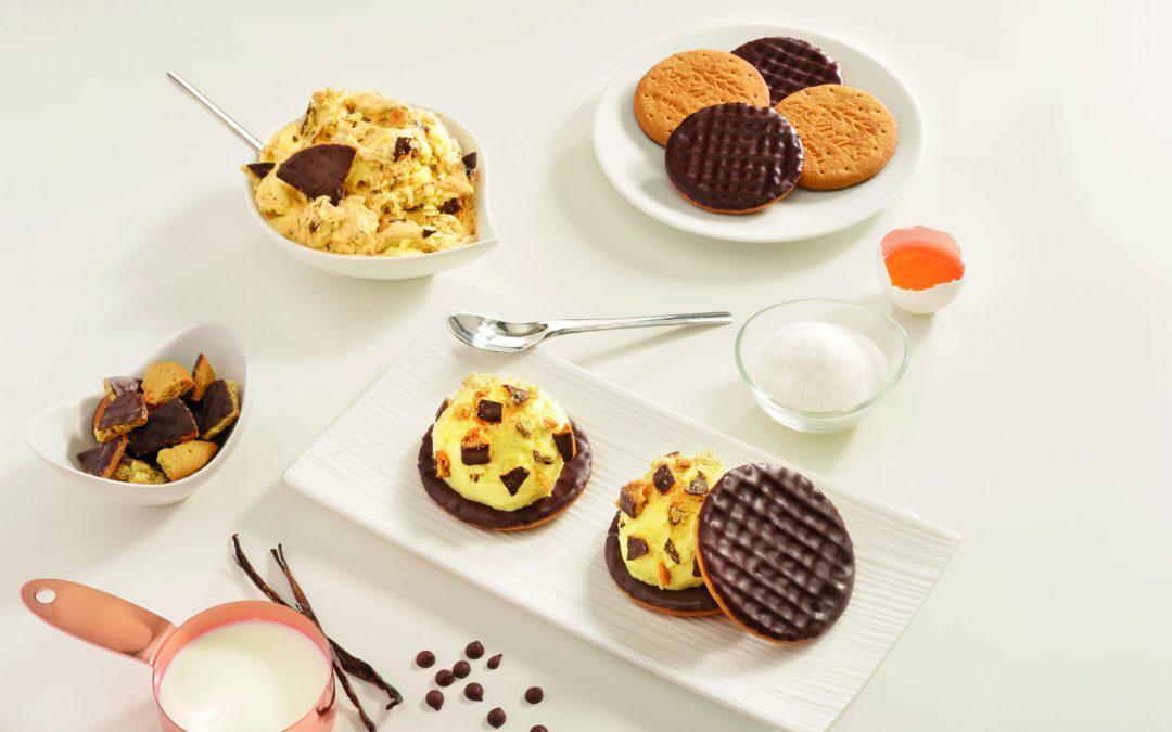 Gelato alla vaniglia e cioccolato